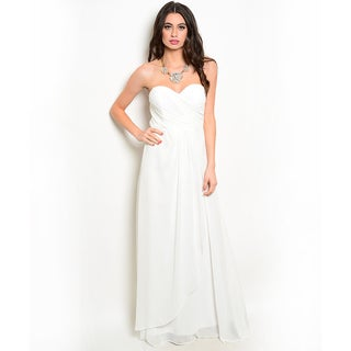 Shop the Trends Women's Strapless Sweetheart Neck Gown