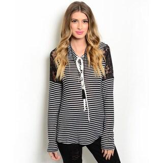 Shop the Trends Women's Long-Sleeve Knit Hooded Sweater
