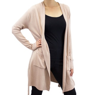 Relished Women's 'Pointe' Hooded Duster Cardigan
