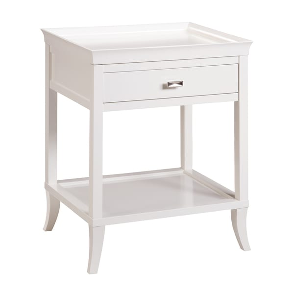 Tamara White Side Table