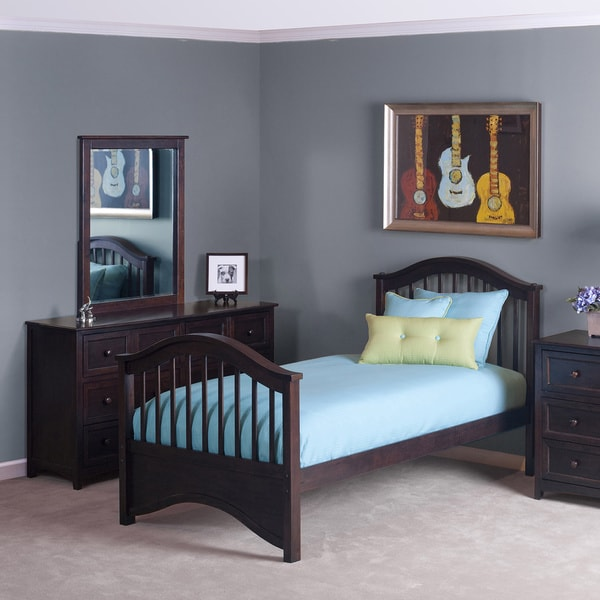 School House Jordan Chocolate Brown Twin Bed