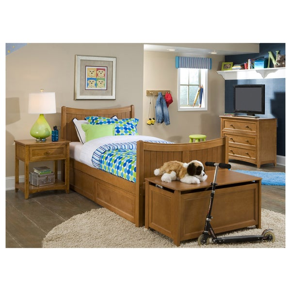 School House Pecan Twin Taylor Bed