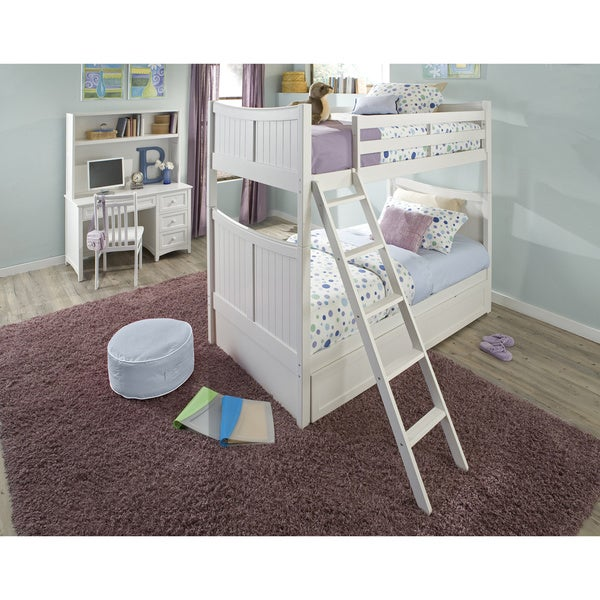 School House Twin over Twin Taylor Bunk Bed White