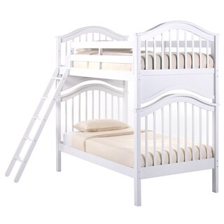 School House Jordan White Twin over Twin Bunk Bed