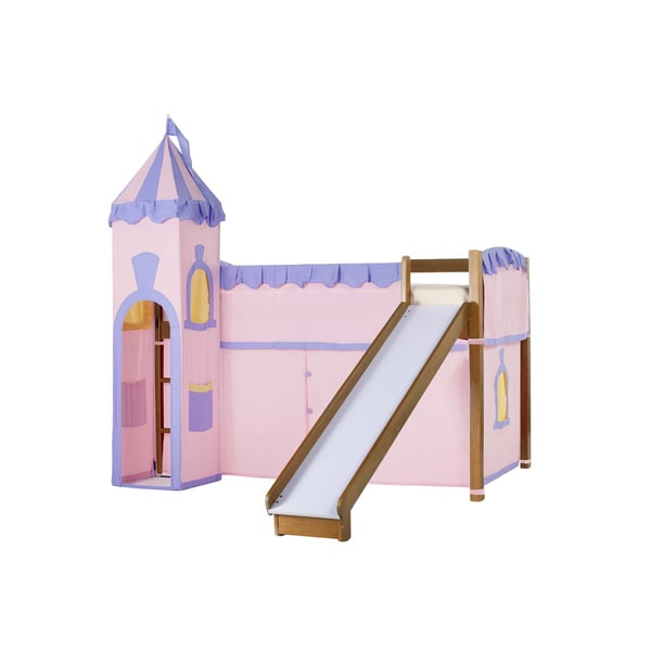 School House Pecan Junior Loft Slide & Princess Tent
