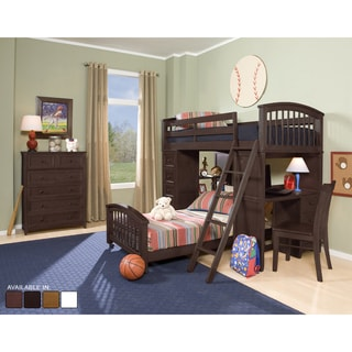 NE Kids School House Chocolate Student Loft Bed