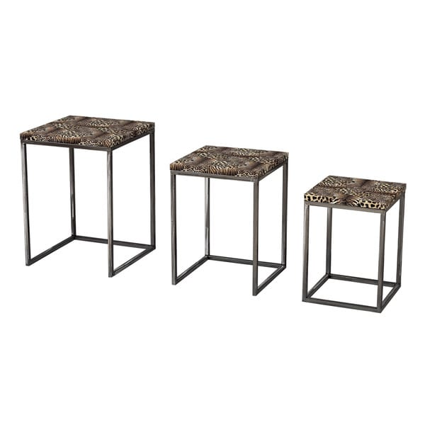 Leopard Print Stacking Tables (Set of 3)
