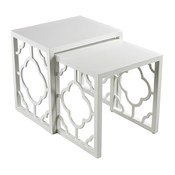 Gloss White Nesting Tables (Set of 2)