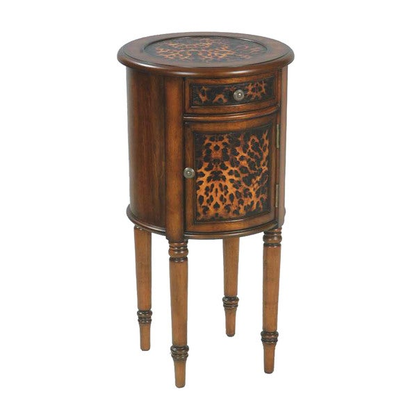 Mahagony Leopard Drum Table
