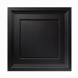 Genesis Icon Coffer Black 2 x 2 ft. Lay-in Ceiling Tile (Pack of 12)