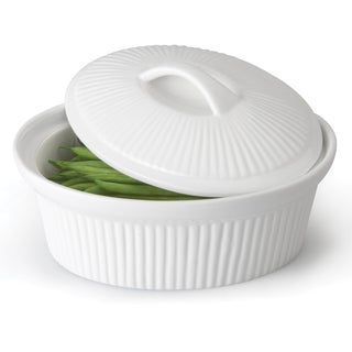 Bianco Oval Covered Casserole 12.25-inch x 10-inch