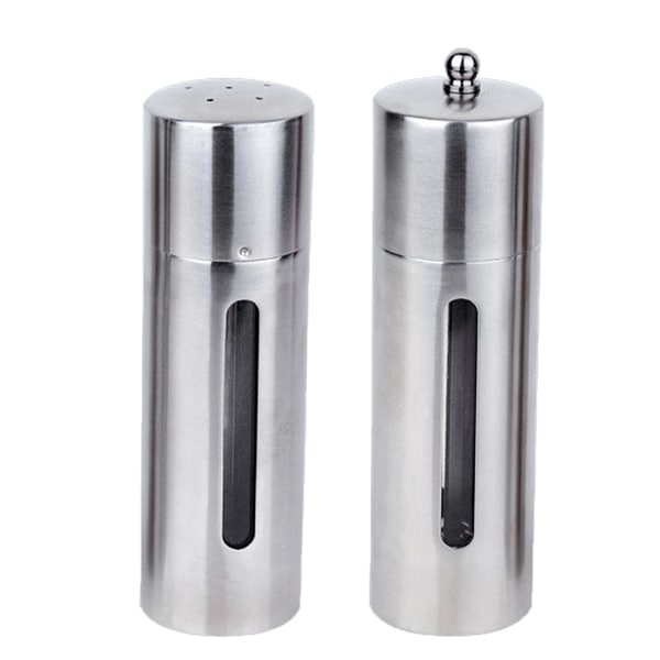 Straight Line Round 2 -piece Salt and Pepper Mill Set