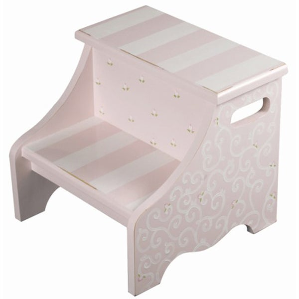 Pink Swirl Step Stool