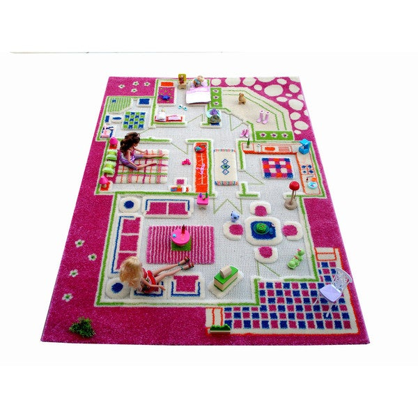 Luca and Company 3D Playhouse Carpet