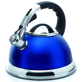 Creative Home Camille 3.0-quart Whistling Stainless Steel Opaque Blue Tea Kettle