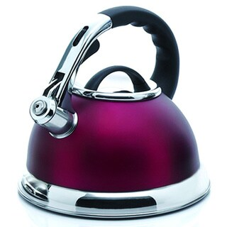Creative Home Camille 3.0-quart Whistling Stainless Steel Opaque Cranberry Tea Kettle