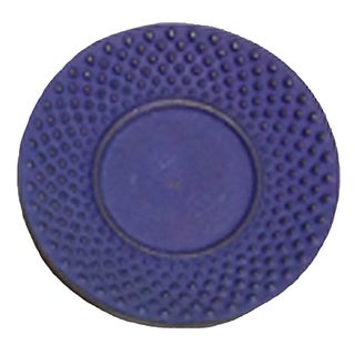 Creative Home 3.75-inch Diameter Cast Iron Round Blue Trivet