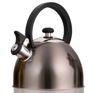 Creative Home Prelude 2.1-quart Whisting Stainless Steel Metallic Smoke Tea Kettle