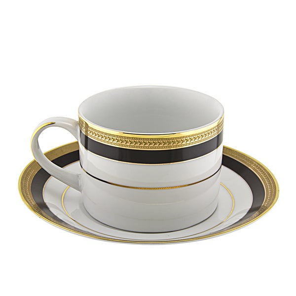 Sahara Black Can Cup/ Saucer (Set of 6) 16456565