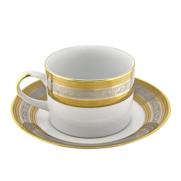 10 Strawberry Street Elegance Can Cup/ Saucer (Set of 6) 16456573