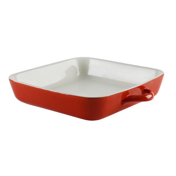 Sienna Red Square 11-inch Bakeware (Set of 2)