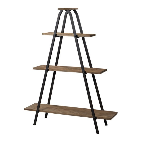 """Wooden """"A"""" Line Shelves With Metal Frame"""