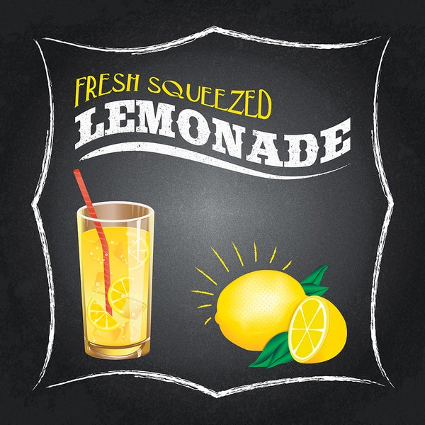 Retro Lemonade Sign (14-inch x 14-inch) Woodmount