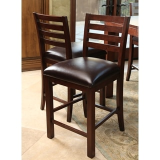 Abbyson Living Messina Leather Counter Stool