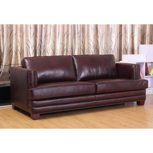 Abbyson Living Henderson Leather Sofa