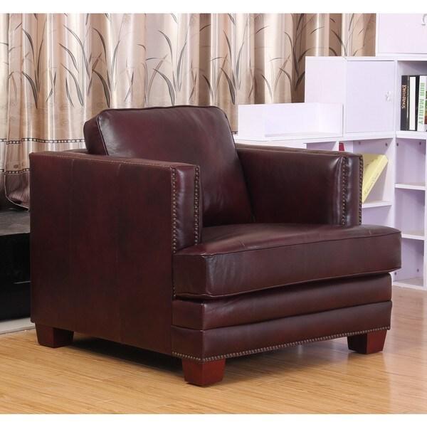 Abbyson Living Henderson Leather Armchair