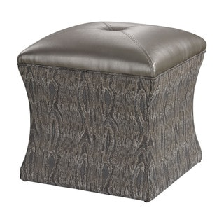Luxe Green Tufted Ottoman