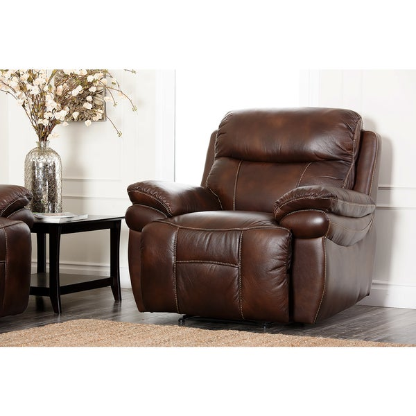Abbyson Living Aspen Leather Recliner
