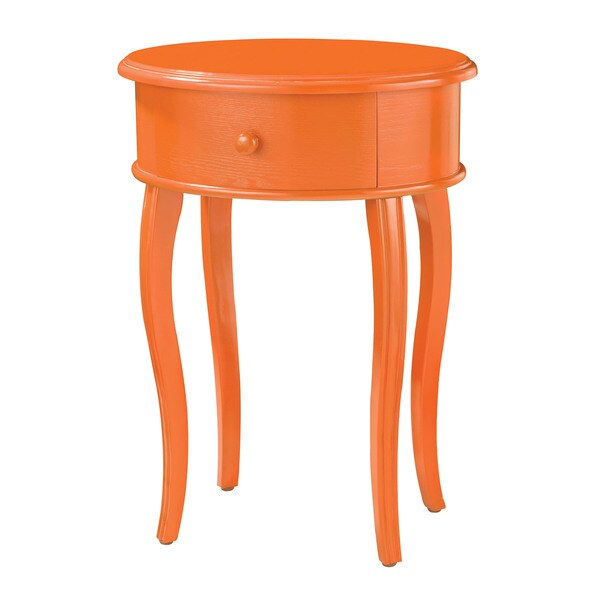 Tangerine Orange Duberry Accent Table