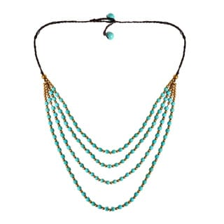 Perfection Turquoise Belle Four Layer Handmade Necklace (Thailand)