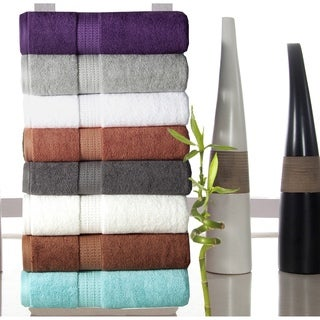 Luxurious Rayon from Bamboo and Egyptian Cotton 650 GSM 6-piece Towel Set
