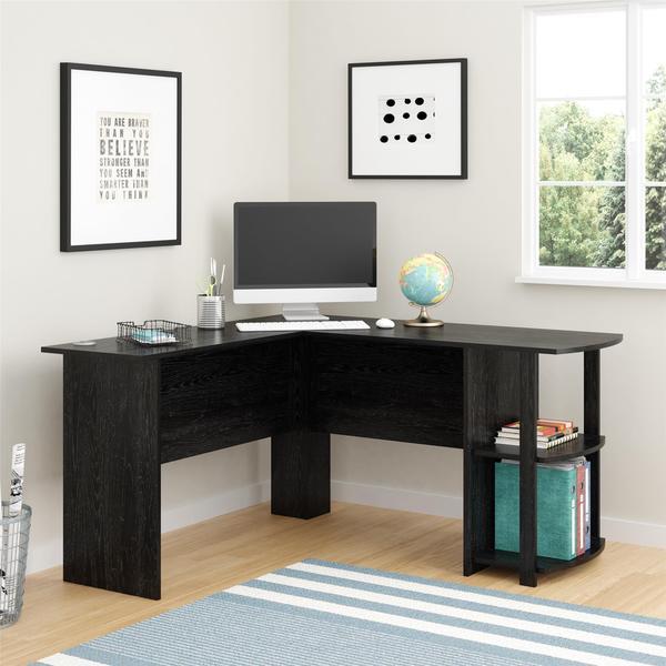 Altra Dakota L-Shaped Desk with Bookshelves - 17734225 - Overstock.com