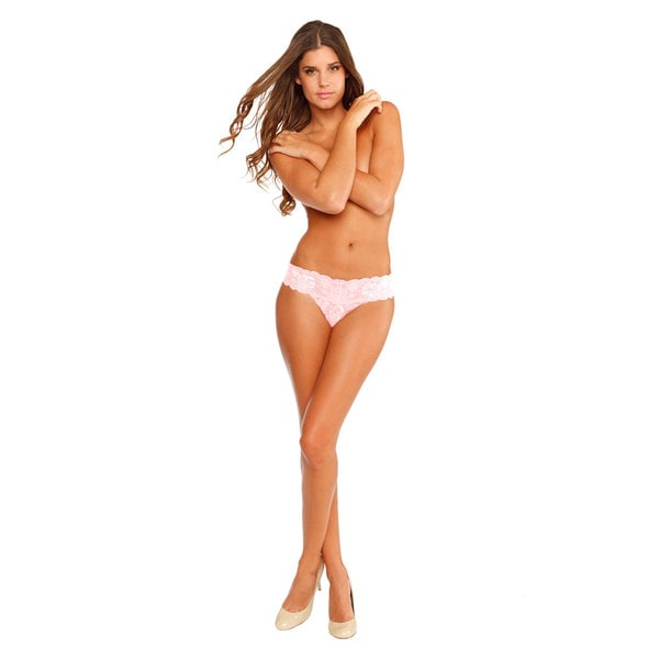 Cosabella Women's 'Never Say Never Cutie' Pink Low Rise Thong