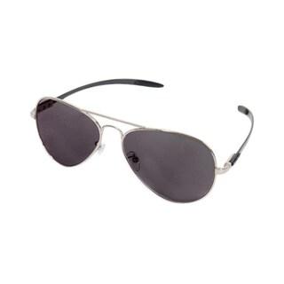 Euro Optix Unisex Silver/ Black Arms Aviator Sunglasses