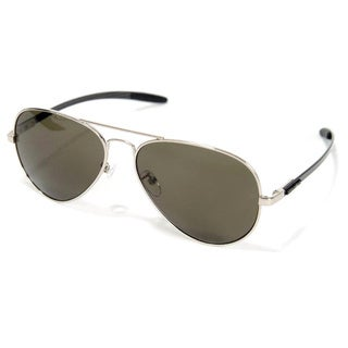 Euro Optix Unisex Gold/ Black Arms Aviator Style Sunglasses