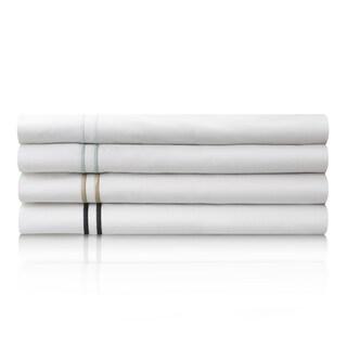 MALOUF Clean and Crisp Feel Percale Sheet Set