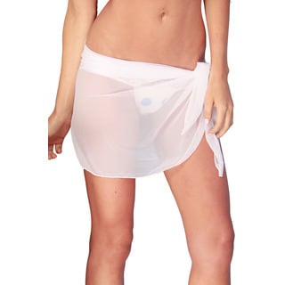 Dippin' Daisy's Women's White Short Mesh Sarong