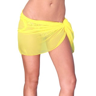 Dippin' Daisy's Women's Yellow Short Mesh Sarong