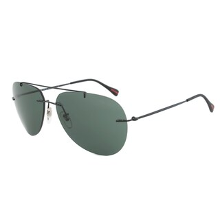 Prada Sport PS50PS 7AX3O1 Red Feather Sunglasses in Black Frame and Grey-Green Lenses