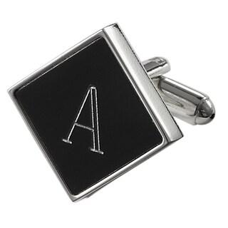 Visol Grove Personalized Black Matte Square Cufflinks