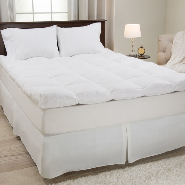 Windsor Home White Cotton Feather and Down Featherbed