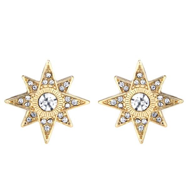 Gold Starburst Stud Earrings