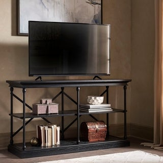 INSPIRE Q Barnstone Cornice Iron and Wood Sofa Table Media Stand Console