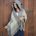 Saachi Women's Inca Hooded Poncho handmade in India