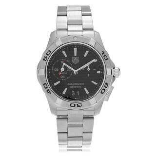 Tag Heuer Mens WAP111Z.BA0831 Aquaracer Textured Dial Link Watch