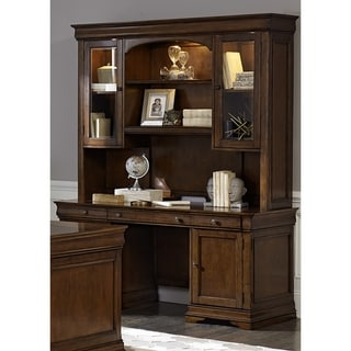 Chateau Valley Brown Cherry Jr. Executive Credenza and Hutch